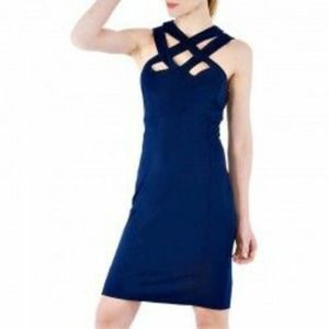 GRETCHEN SCOTT HOTSIE TOTSIE SOLID DRESS NAVY Med